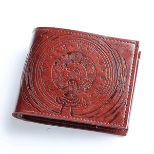Date A Live Wallet Nightmare Kurumi Tokisaki Zafkiel Badge Short PU Wallet Purse - Xcoser Costume