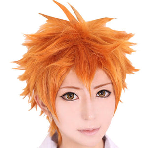 Haikyuu!! Hinata Shoyo Cosplay Short Orange Synthetic Wig - Xcoser Costume