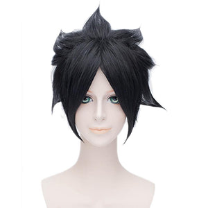 Sasuke Uchiha Wig Naturo Cosplay Sasuke Short Black Anime Wig With Headband