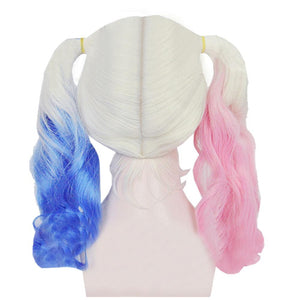 Harley Quinn Wig Suicide Squad Harley Quinn Cosplay Pink Blue Gradient Ponytail Wig - Xcoser Costume