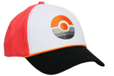 Pokemon GO Pokeball Baseball Cap Peaked Cap Pokemon GO Cosplay Cap in Embroidered Style