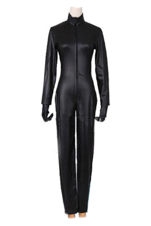 Xcoser Durarara!! Black Zip UP Zentai Celty Costum Cosplay&Halloween Costum