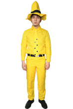 Curious George Man in the Yellow Hat Costume Uniform Adults - Xcoser Costume