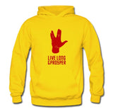 Star Trek 3 Spock Thicken Pullover Unisex Hoodie Spock Cosplay Costume Black/ Yellow/ Red