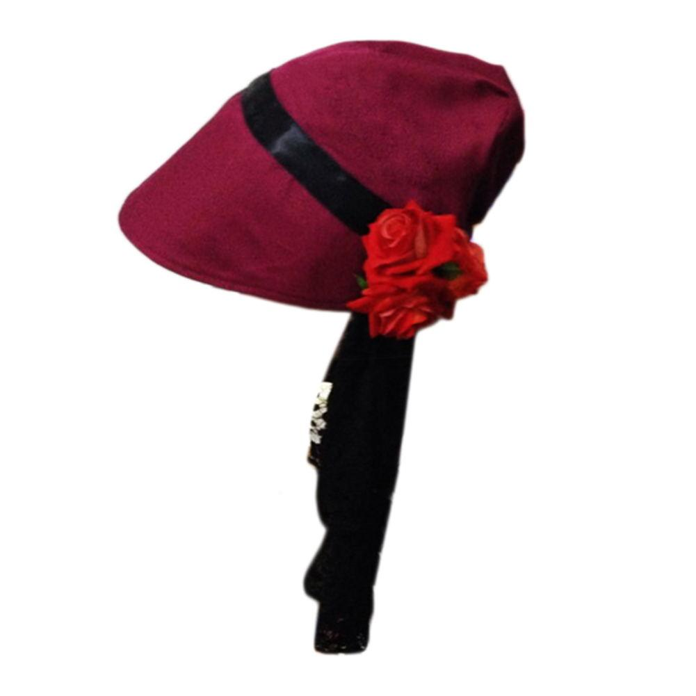 Bloodborne Doll Wine Red Hat Uniform Fabric Cosplay Accessory