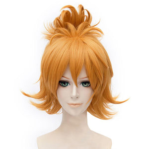 Urashima Kotetsu Wig Touken Ranbu Cosplay Short Curly Golden Anime Wig