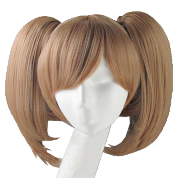 Silica Wig Sword Art Online Silica Cosplay Short Brown Wig with Bunches Costume Accessory