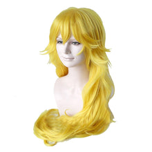Super Mario Princess Peach Wig 80cm Long Wavy Yellow Cosplay Wig