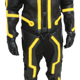 Tron Legacy Costume Movie Cosplay Deluxe Glowing Jeff Bridges CLU Costume With El Wire Adult Halloween Costume