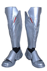 Overwatch Reaper Riding Boots Reaper Silver Color Thigh-high Boots Reaper Cosplay Shoes Custom Made