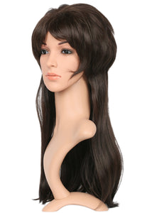 Xcoser Elvira Wig Long Straight Black Wig Elvira's Movie Macabre Elvira Cosplay Props Halloween Wig