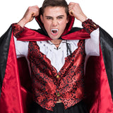 Halloween Vampire Count Cosplay Costume with Cape