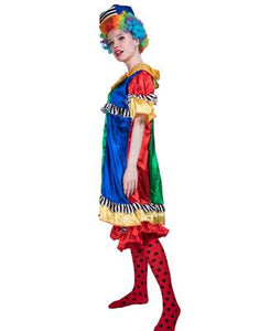 Halloween Carnival Professional Colorfully Sexy Clown Costume