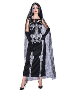 Halloween Witches Female Skeleton Costume