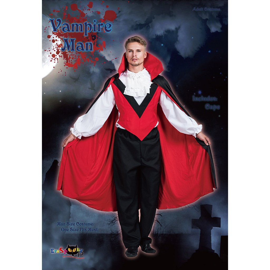 Color Block Vampire Cosplay Costume with Cape