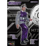 Printed Color Block Robot Cosplay Costume