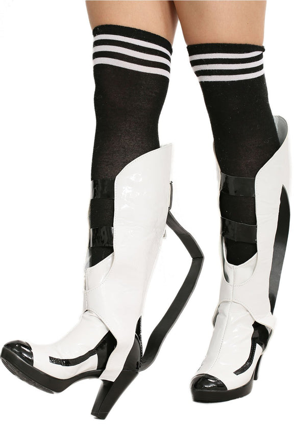 Portal 2 PU Shoes Portal Cosplay Shoes for Woman