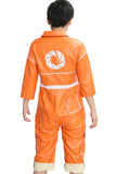 The Game Portal Chell Costume Orange PU Coverall for Cosplay