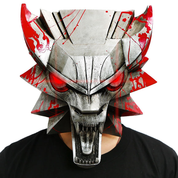 Wolf Head Mask The Witcher Wild Hunt Cosplay Cool Half Face PVC Unisex Halloween Mask Adult