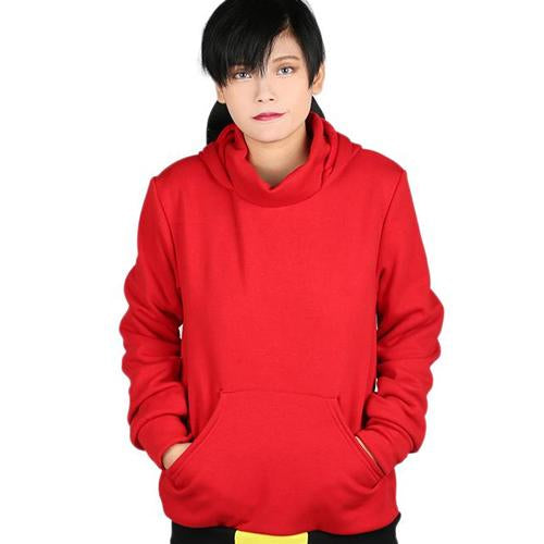 Xcoser Mario Series Shy Guy Hoodie Women's Hooded Sweatshirt Cosplay Costume with Mask Design