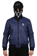 Watch Dogs 2 Marcus Holloway Jacket Navy Blue Zipper Jacket Marcus Holloway Cosplay Costume