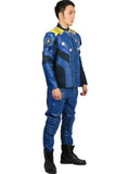 The Hot Movie Star Trek: Beyond Captain James T. Kirk Starfleet PU Blue Costume Captain Kirk Cosplay Costume