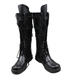 Captain America: Civil War Hawkeye Boots Black PU Cosplay Boots