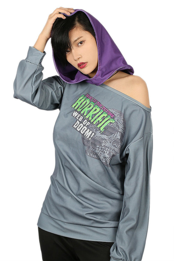 Watch Dogs 2 Sitara Hoodie Costume Loose T-shirt Casual Dacron Gray Tops
