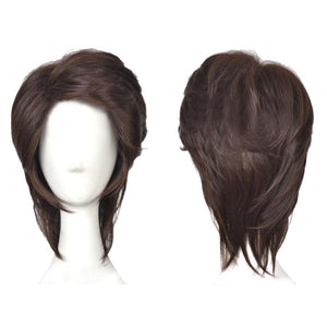 Flynn Rider Wig Disney Tangled Flynn Cosplay Short Brown Wig with Free Wig Cap - Xcoser Costume