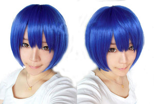 Coraline Wig Blue Short Straight Wig for Cosplay Halloween Party