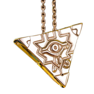 Yugioh Necklace Silver Millenium Puzzle Ring Necklace Pendant with 45cm chain