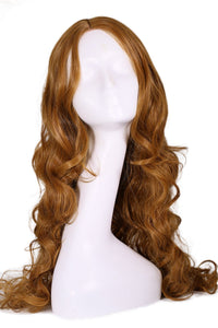 Elektra wig Daredevil Cosplay Costume Brown Long Curly Wavy Hair Accessories - Xcoser Costume