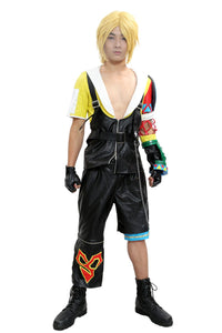 Tidus Cosplay Costume Final Fantasy X Cosplay PU Outfit Adult