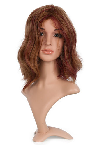 Xcoser The Flash Magenta Cosplay Wig Charming Big Wavy Faux Hair For Women Cosplay