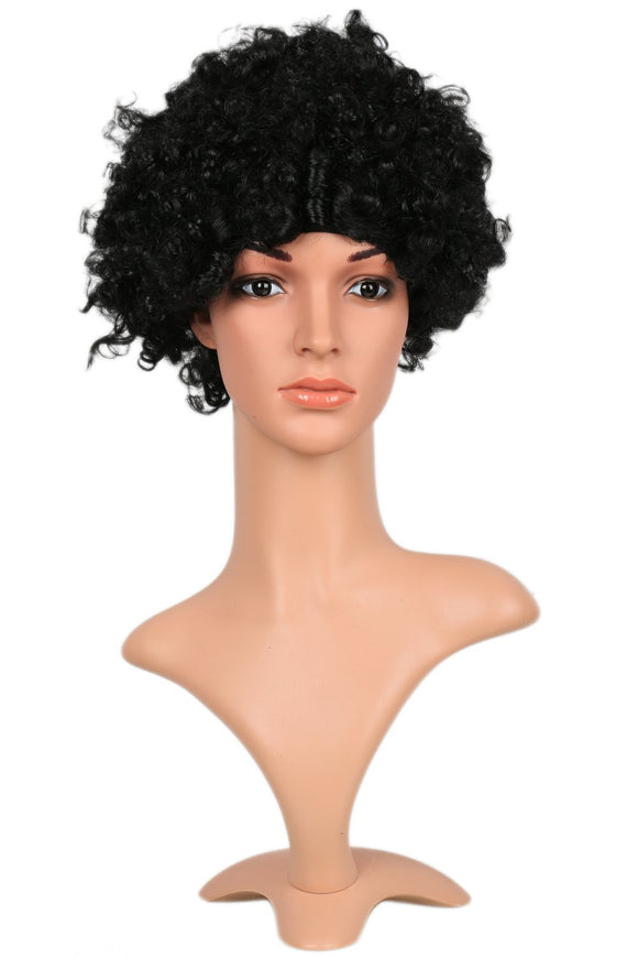 Xcoser Marvel's New Iron Woman Riri Williams Cosplay Wig Curly Black Afro Hair