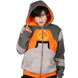 Xcoser Half-Life Dr. Gordon Freeman Hoodie Cosplay Costume Hooded Sweatshirt for Teenagers