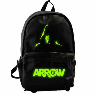 Green Arrow Backpack Good Quality PU Students Backpack Unisex Leisure Bag - Xcoser Costume