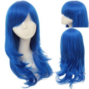 Juvia Lockser Wig Fairy Tail Juvia Cosplay Middle Length Blue Wavy Wig Hair Accessories - Xcoser Costume
