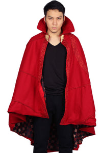 Doctor Strange Cloak Bright Red Cloak Doctor Strange Cosplay Costume One Size - Xcoser Costume