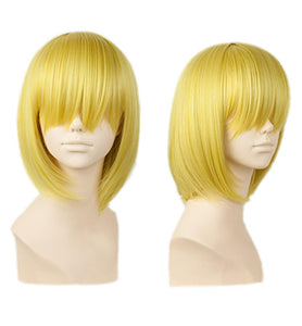 Sanji Wig One Piece Sanji Short Straight Golden Blonde Halloween Party Wig With Free Wig Cap