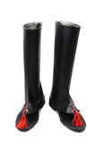 Dramatical Murder Koujaku Black PU Thigh-boots Riding Boots Anime Cosplay Shoes - Xcoser Costume