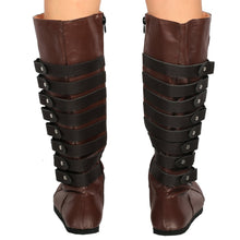 Assassin's Creed Maria Shoes Brown PU Boots for Cosplay and Halloween - Xcoser Costume