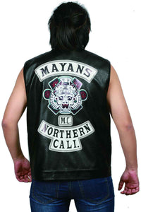 XCOSER Mayans MC Cosplay Ezekiel Reyes Black PU Cool Jacket Coaplay Costume