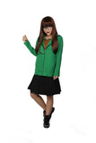 Halloween Cosplay XCOSER Daria: The Series Cosplay Daria Coat & One-Piece Dress Costume