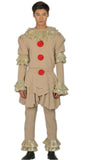 2017 Stephen King's It Pennywise the Dancing Clown Full Cosplay Costume Halloween Suit Old version
