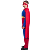 Halloween Cosplay Adult Superhero Superman Costume with Cape