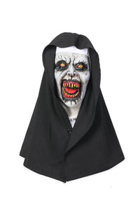 Halloween Cosplay XCOSER The Nun Cosplay Valak The Nun White Full Head Mask & Hood