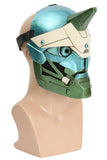 Xcoser Destiny 2 Cayde 6 Cyan-blue & Green Helmet Game Cosplay Mask