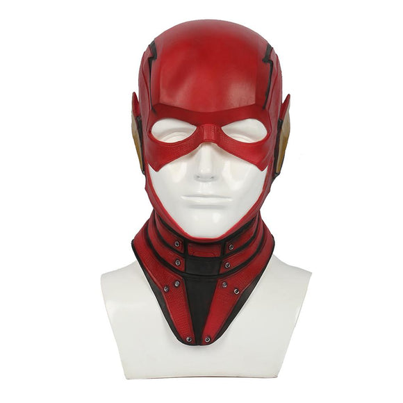 Xcoser Justice League The Flash Red Latex Fullhead Helmet Movie Cosplay Mask