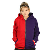 Xcoser Suicide Squad Cotton Zip Up Hoodie Harley Quinn Cosplay Costume in Embroidered Style